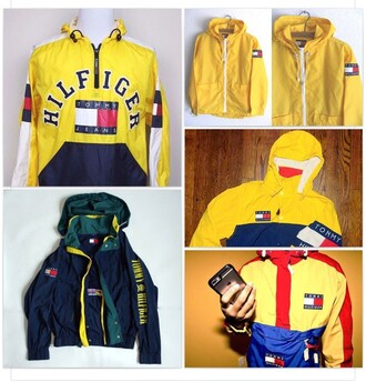 jacket tommy hilfiger windbreaker vintage tommy hilfiger crop top mens jacket yellow tommy hilfiger jacket cute trendy celebrity celebrity style winter outfits yellow coat coat tommy hilfiger windbreaker green red blue new york new york city