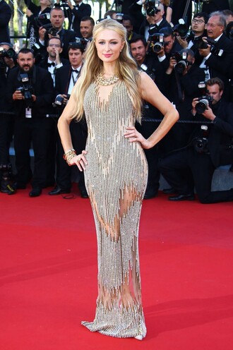 dress prom dress paris hilton cannes red carpet