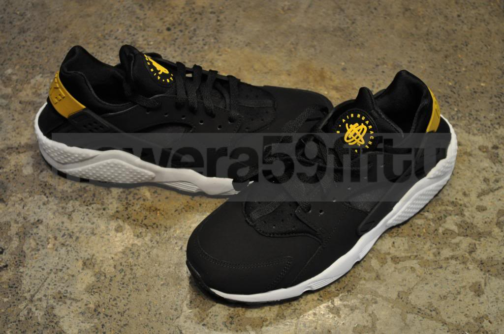 new arrival 92427 a5087 Nike Air Huarache 2013 Black Black Tour Yellow White | eBay