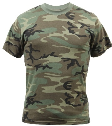 Buy Vintage Woodland Camouflage T-Shirt at Army Surplus World