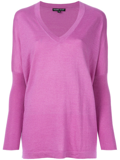 sweater women silk purple pink