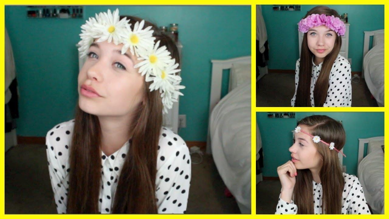 Diy Flower Crownheadband Youtube