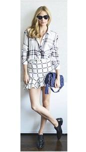 skirt,olivia palermo,shirt,shoes