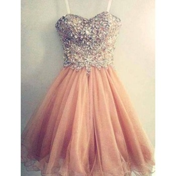 2015 Hot Sale A line Spaghetti Strap Sweetheart Orange Formal party Gowns Beading Short prom dress-in Prom Dresses from Weddings & Events on Aliexpress.com | Alibaba Group
