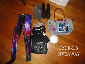 leggings galaxy print black milk
