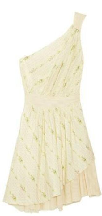 dress one shoulder off-white
