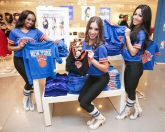 t-shirt nba crop tops top blue shirt sporty