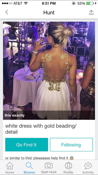 dress gold dress gold sequins open back dresses formal dress party dress white dress