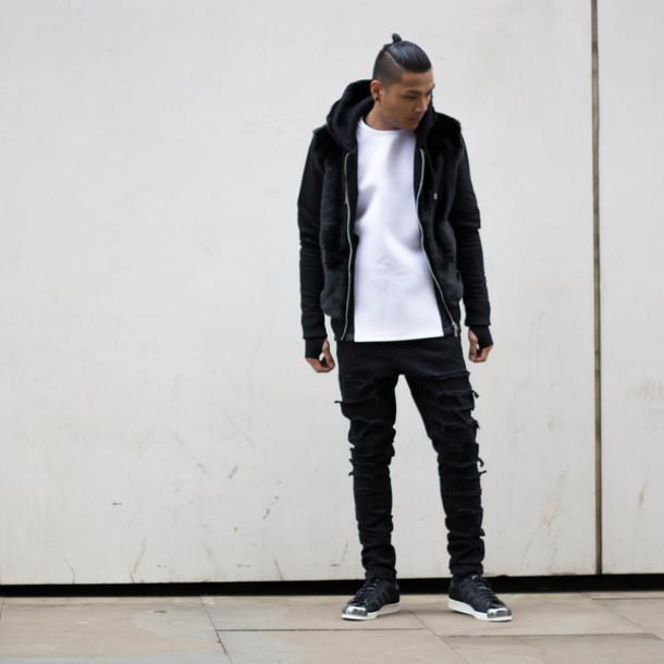 jeans black ripped jeans denim black jeans menswear