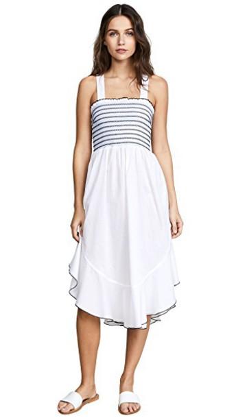 kisuii dress white blue black