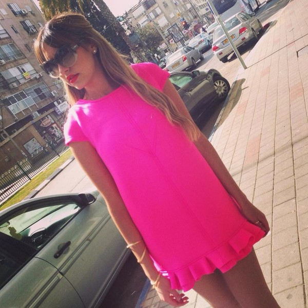 dress pink fushia