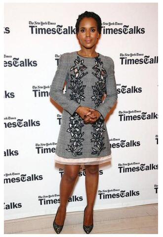 dress grey long sleeve dress kerry washington pumps spring dress shoes