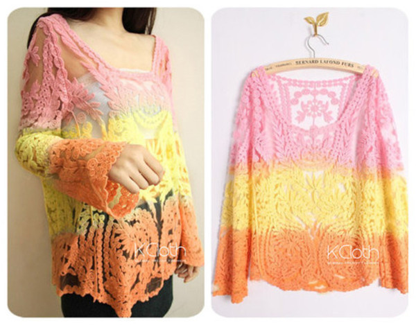 blouse kcloth ombre ombre blouse ombre lace crochet bikini lace crochet cover up