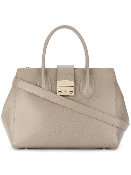 Furla women leather grey bag