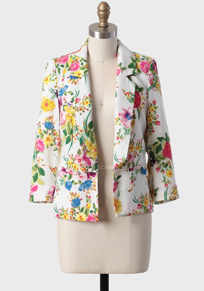Miami afternoon floral blazer