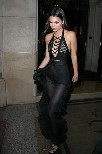 kendall jenner black tank top sexy