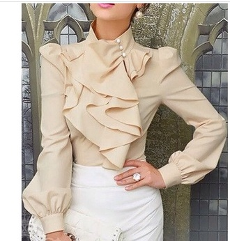 blouse tan nude serena chruch