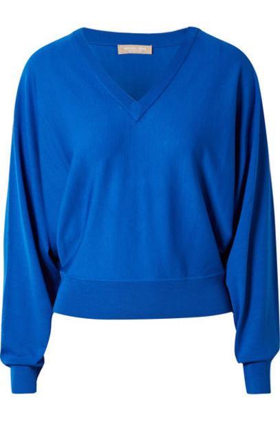 sweater blue wool bright