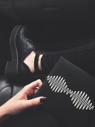 shoes black grunge clothes high heels arctic monkeys pants black jeans ripped jeans black heels black shoes