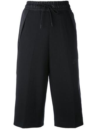 shorts women drawstring cotton black