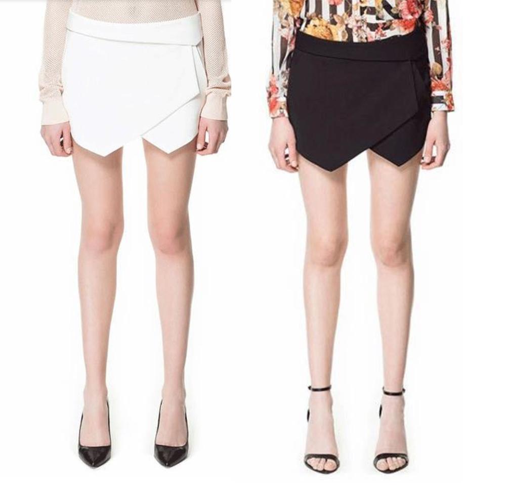 Asymmetric Skirt Shorts in Black or White from UniquePeek on Storenvy