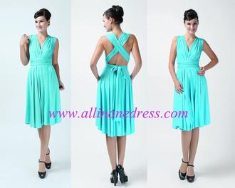 dress aqua blue infinity dress bridesmaid convertible dress wrap dress