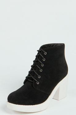 Andrea Contrast Sole Lace Up Ankle Boot at boohoo.com