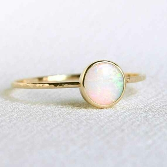 jewels ring orbital ring gold opal ring