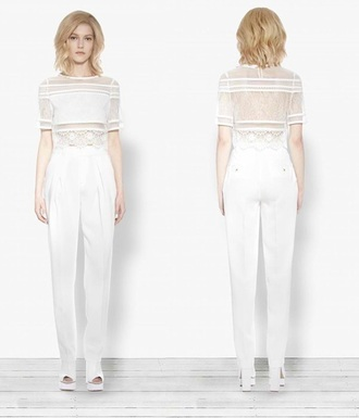 pants white pants high waisted pants straight leg jeans wide-leg pants must have