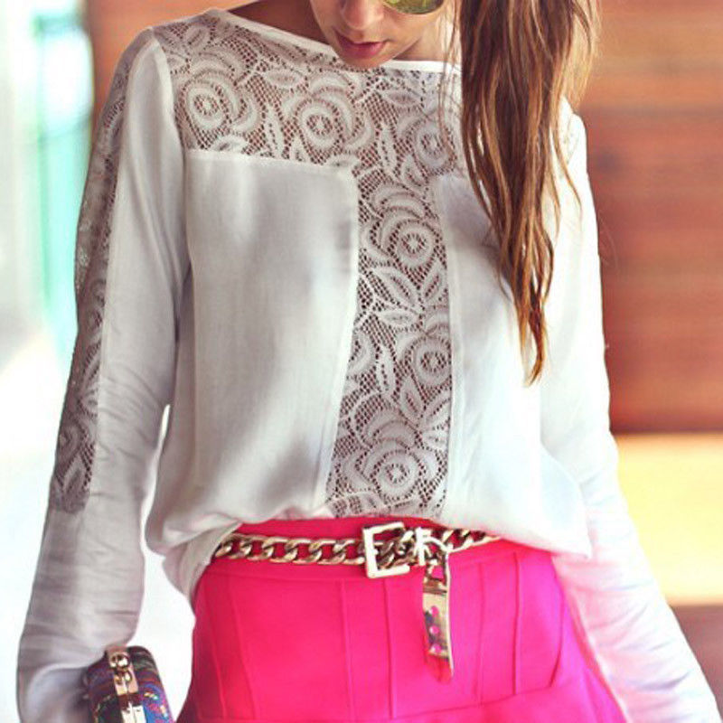 Rose lace white long sleeve blouse · fashion struck · online store powered by storenvy