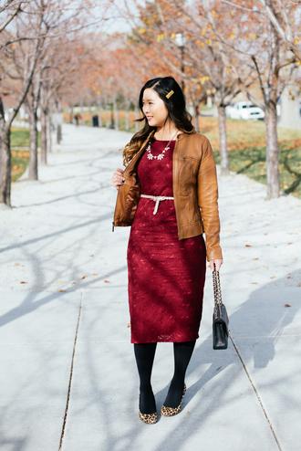 sandy a la mode blogger dress jacket shoes bag jewels