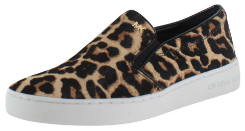 Michael Kors Keaton Women's Cheetah Slip On Sneakers Shoes