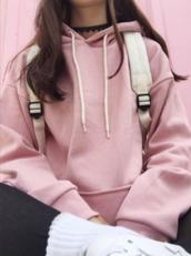 sweater,pink,pastel,light pink,alternative,sweatshirt,pullover,oversized,oversized sweater,grunge,pullover hoodie,korean fashion,korean style