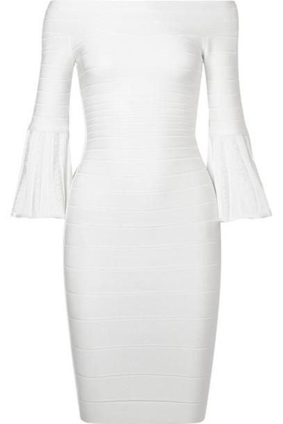 herve leger dress mini dress mini bandage white