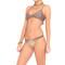 Luli fama knotted sides ruched brazilian bikini bottom