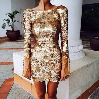 dress gold dress gold sequins sequin dress