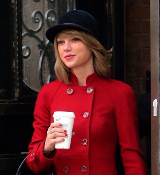 coat taylo swift red taylor swift jacket