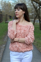 sweater,lace rose,sweater women,sweatershirts,2016 new fashion,3d sweatshirts,lace,sweaters tops apparel pullovers,pullover,floral t shirt,pink,loose,elegant,long sleeves