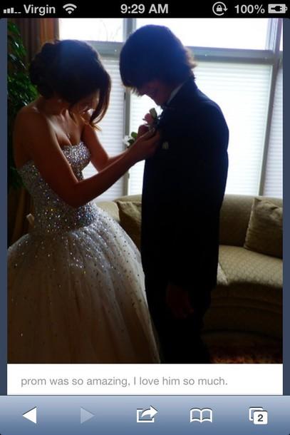 dress sparkle gems corset back princess dress tulle skirt prom