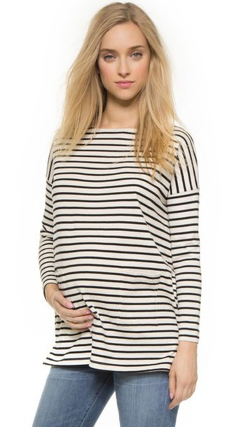 Hatch The Bateau Top - Black & White Stripe
