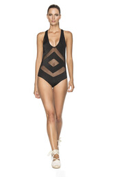 swimwear,agua bendita,black,mesh,one piece,nocturno,one piece swimsuit,mesh cutouts,latin fit,bikiniluxe