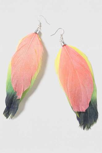 jewels earrings feathers feather earrings