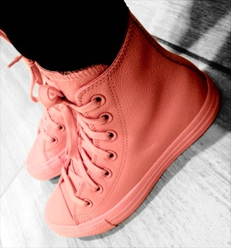 shoes converse high top converse pink