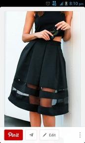 skirt,black skirt,classy dress,sheer skirt,all black everything,jupe noire,black,see through,midi skirt,feminine,dress,black midi skirt sheer panel