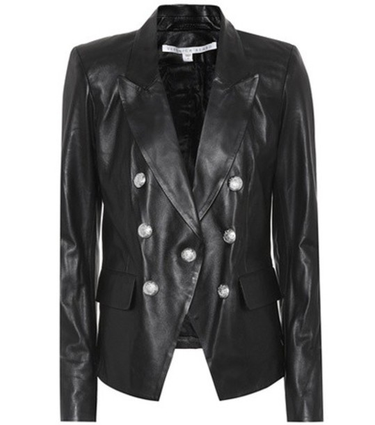 Veronica Beard jacket leather jacket leather black