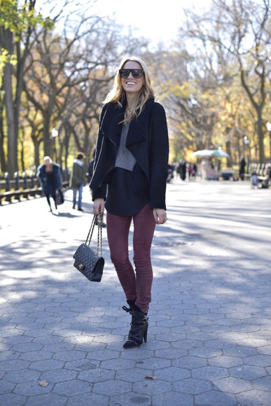 top jewels skinny pants bag blogger mind body swag sunglasses black boots