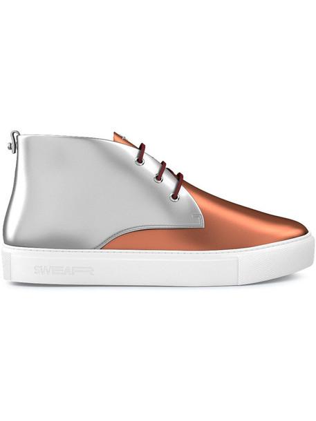SWEAR women sneakers leather grey metallic shoes