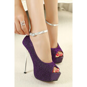 shoes,purple,violet,silver,silver shoes,purple shoes,purple heels,heels,style,stylish,stilettos,ankle strap heels,ankle strap,sexy,hot,sexy shoes,open toes,love,lovely,pretty,cute,cool,amazing,fabulous,gorgeous,beautiful,trendy,fsjshoes,fashion,fashionista,girl,girly,women,high heels,glitter,glitter shoes,sparkle,shiny