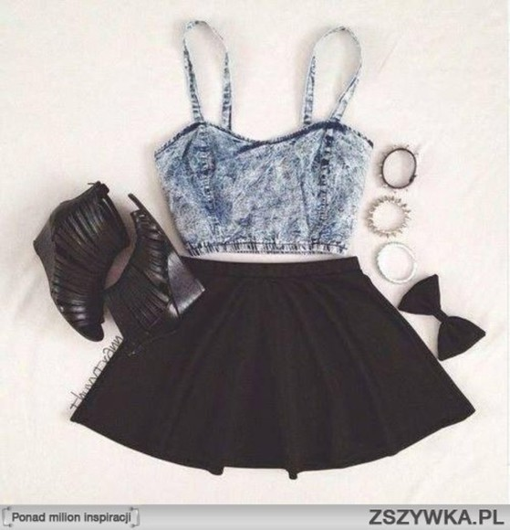 skirt crop tops summer outfits tank top