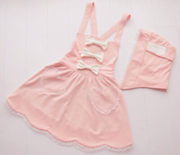 Dress Pink Dress Cute Bow Dress Pastel Goth Ulzzang